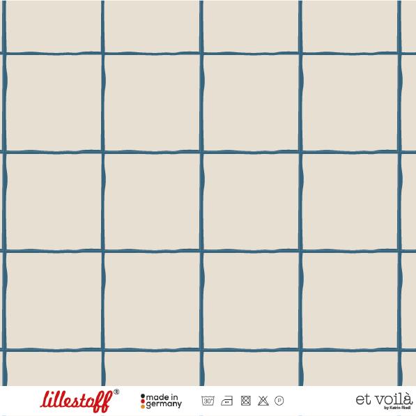 Stoffe/Designer/et voilà/Grid, petrol Bild 1