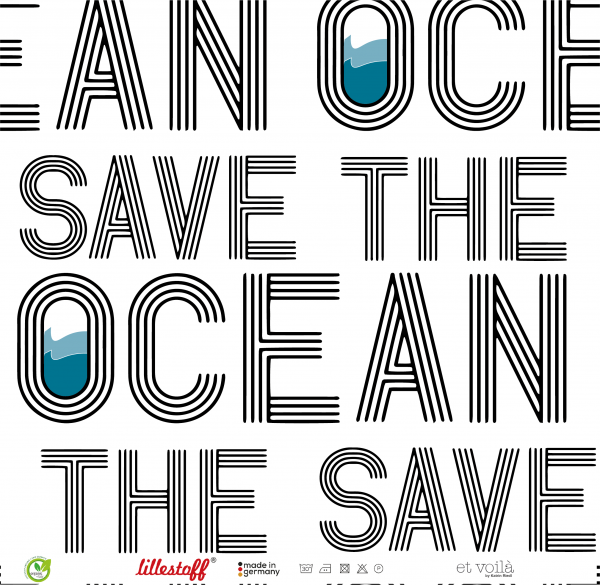 Stoffe/Designer/et voilà/Ocean, schwarz-weiß Bild 1