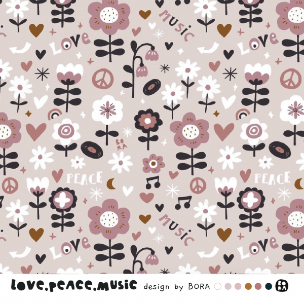 Stoffe/Designer/BORA/Love.Peace.Music Bild 1