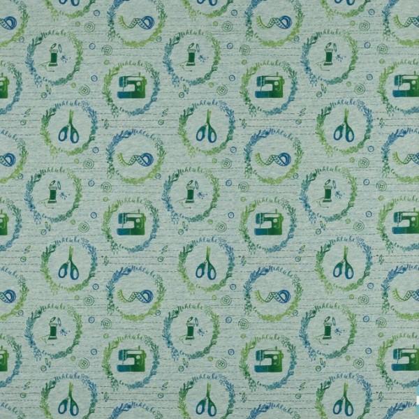 Stoffe/Designer/Miss Patty/Nähfee grün meliert Bild 1