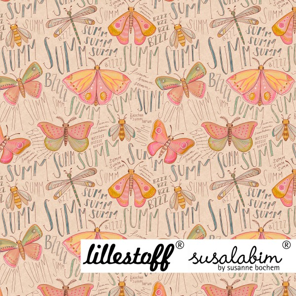 Fabrics/Designers/SUSAlabim/Susalabims Schmetterlinge, beige Bild 1