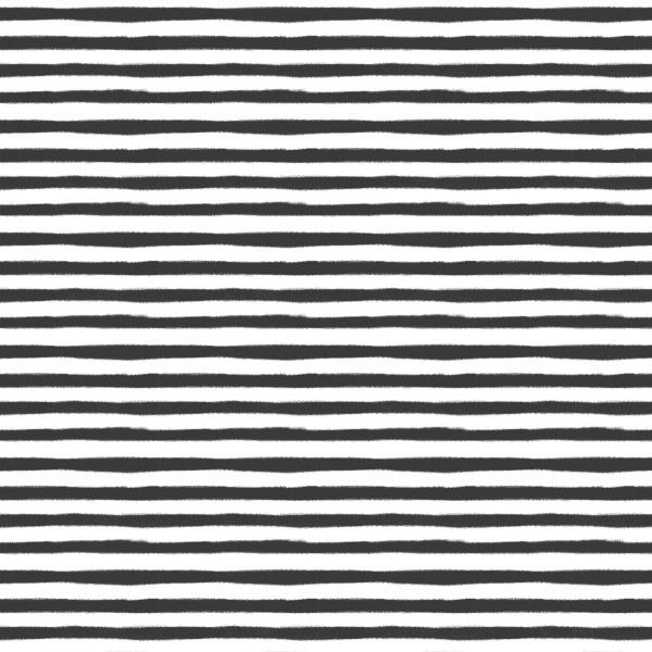 Stoffe/Designer/Enemenemeins/Black Bloom Stripe Bild 1