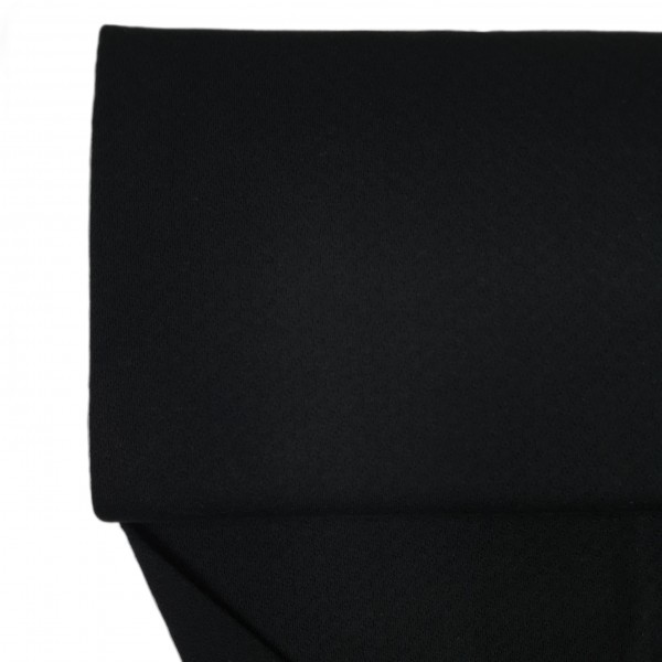 Stoffe/Basics/Jacquard Uni/Jacquardjersey, schwarz Bild 1