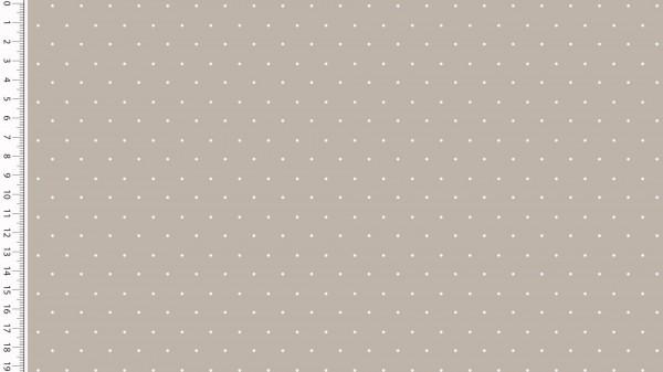 Stoffe/Basics/Sonstige/Jersey Punkte, taupe Bild 1