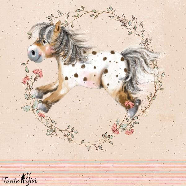 Fabrics/Designers/Tante Gisi/Mein kleines Blumenpony Bild 1