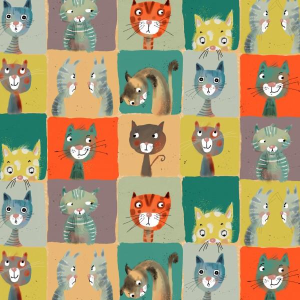 Stoffe/Designer/Tante Gisi/Cats Bild 1