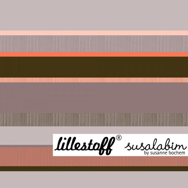 Fabrics/Designers/SUSAlabim/Streifenmuster taupe orange Bild 1
