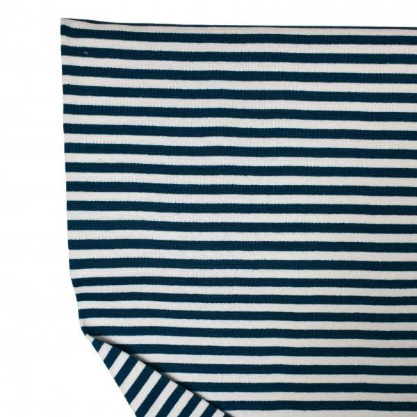 Fabrics/Basics/Striped Cuffs/Bündchen/Ribbing, glatt/smooth, dunkelblau/weiß Bild 1