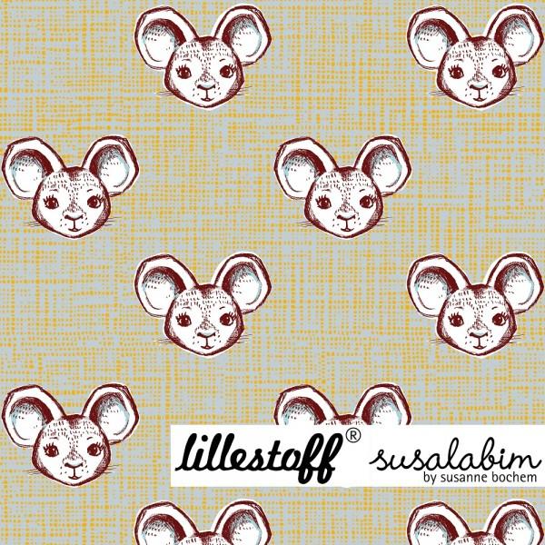 Fabrics/Designers/SUSAlabim/Mausi graugelb Bild 1