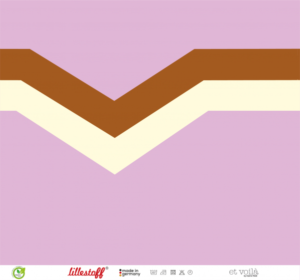 Fabrics/Designers/et voilà/V-Streifen, flieder-bronze-creme Bild 1