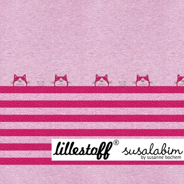 Fabrics/Designers/SUSAlabim/Tigerkatze himbeer meliert Bild 1