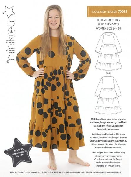 Schnittmuster/MiniKrea/SM70055- Schnittmuster/Pattern Kleid mit Rüschen Bild 1