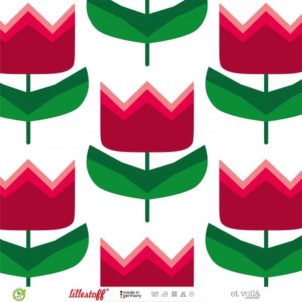 Stoffe/Designer/et voilà/Rote Tulpen Bild 1