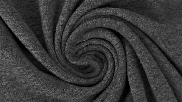 Fabrics/Basics/Solid Sweat/Summersweat Brushed, dunkelgrau-meliert Bild 1