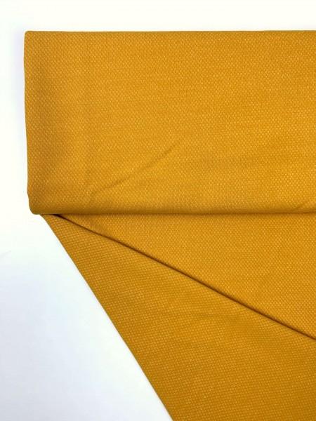 Fabrics/Basics/Jacquardsweat, ockergelb Bild 1