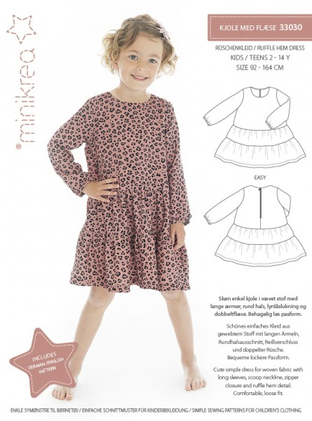 MiniKrea 33030 Ruffle Hem Dress Sewing Pattern.jpg