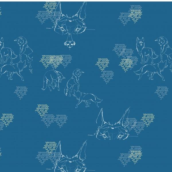 Fabrics/Designers/Tante Gisi/Der Tanzende Wolf Bild 1