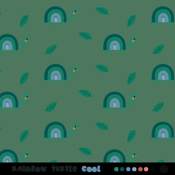 Stoffe/Designer/BORA/Rainbow Turtles, cool Bild 1