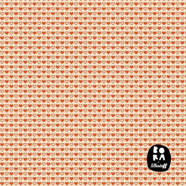 Fabrics/Designers/BORA/Hearts orange Bild 1