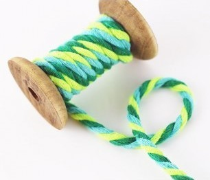 Notions/Twisted Cotton Cord, green vibes, 7 mm Bild 1