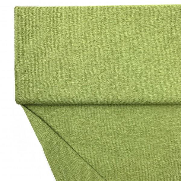 Fabrics/Basics/Solid Slub/leichter Slub French Terry, moos Bild 1