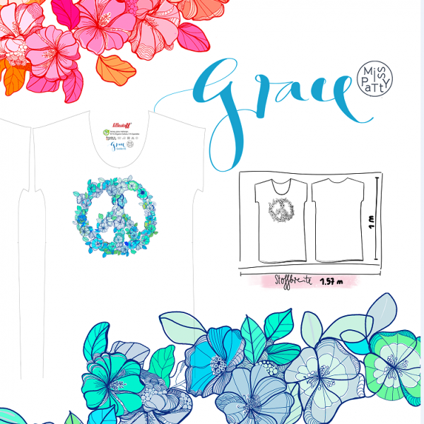 Fabrics/Designers/Miss Patty/Sommerkleid Grace blau Bild 1