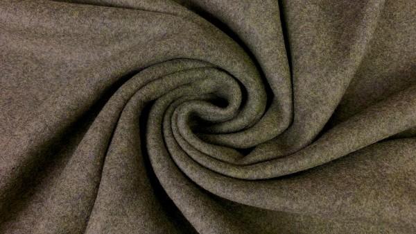 Stoffe/Basics/Double Fleece Uni/Double Fleece, armeegrün Bild 1