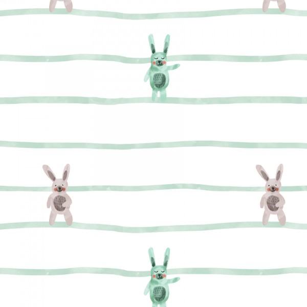 Stoffe/Jahreszeiten und Feiertage/Bunny Love Stripe Bild 1