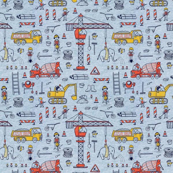 Fabrics/Designers/SUSAlabim/Susalabims Baustelle, blaugrau-meliert Bild 1