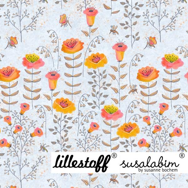 Fabrics/Designers/SUSAlabim/Susalabims Bienenwiese, hellblau Bild 1