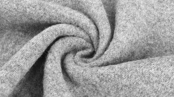 Stoffe/Basics/Walkstoffe/Boiled Wool Uni/Walkloden, hellgrau Bild 1