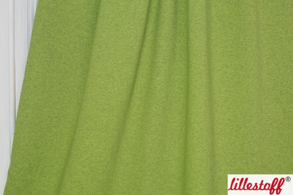 Fabrics/Basics/Solid Sweat/Kuschelsweat, lime-meliert Bild 1