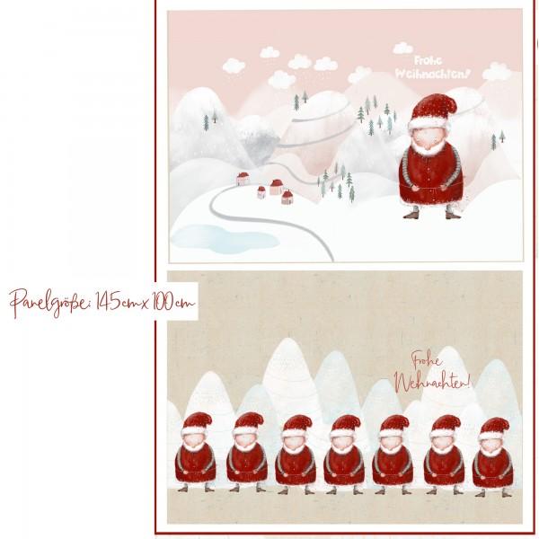 Stoffe/DIY-Bastelpakete/Großer Weihnachtssack, Weihnachtsmänner Bild 1