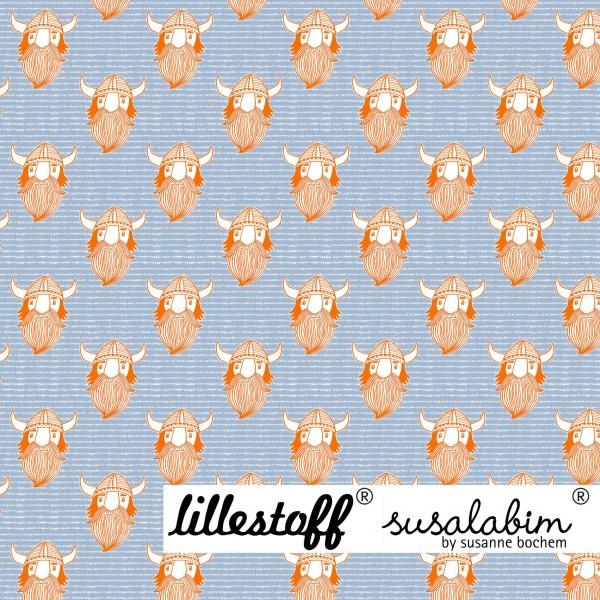 Fabrics/Designers/SUSAlabim/Susalabims Wikinger Bo, orange Bild 1
