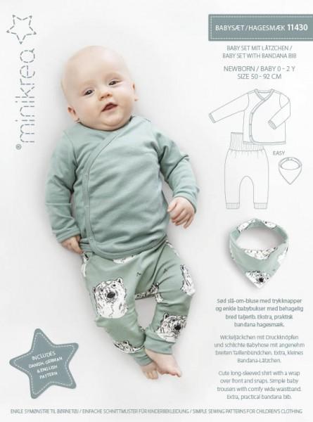 Schnittmuster/SM11430- Schnittmuster/Pattern Babyset mit Lätzchen/Baby Set with Bandana Bib Bild 1