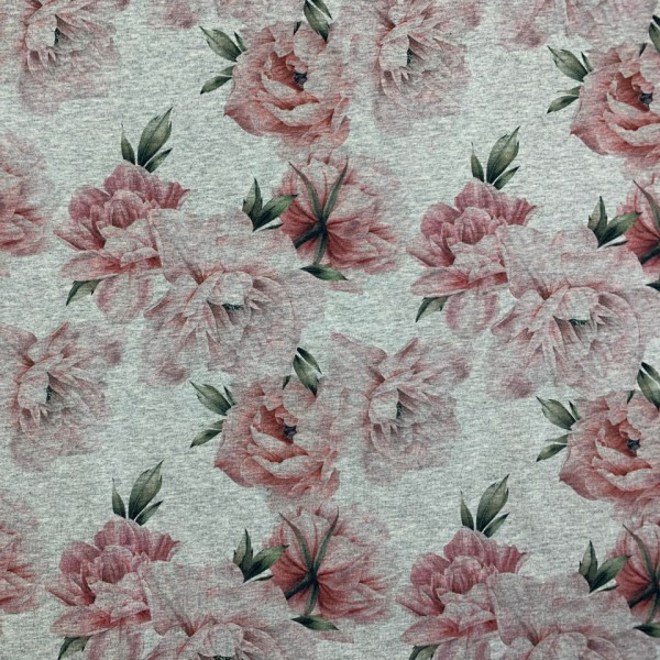 Fabrics/Floral/Watercolor Little Peony, grau-meliert Bild 1