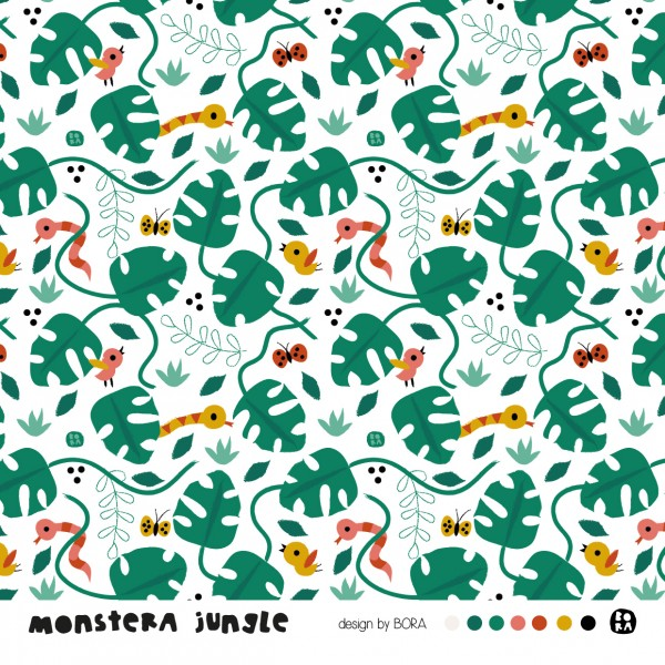 Stoffe/Designer/BORA/Monstera Jungle Bild 1