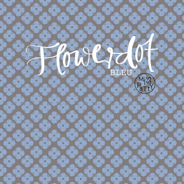 Fabrics/Designers/Miss Patty/Flowerdot, bleu Bild 1