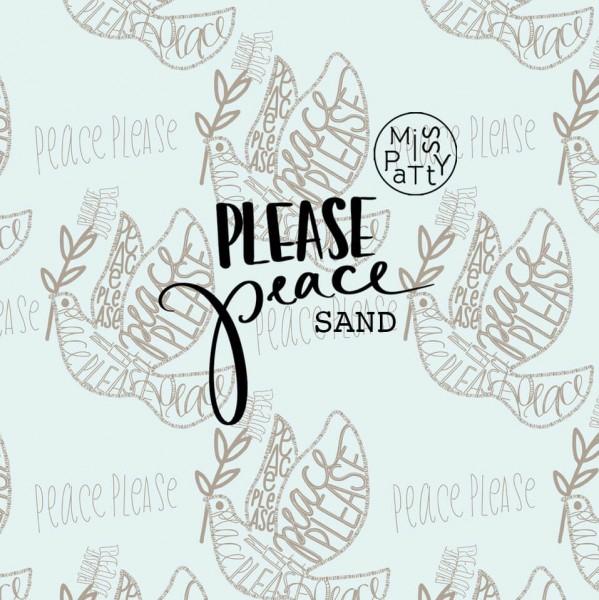Fabrics/Designers/Miss Patty/Please Peace, sand Bild 1