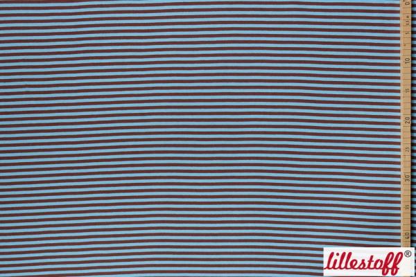 Fabrics/Basics/Striped Cuffs/Bündchen/Ribbing, glatt/smooth, braun/hellblau Bild 1