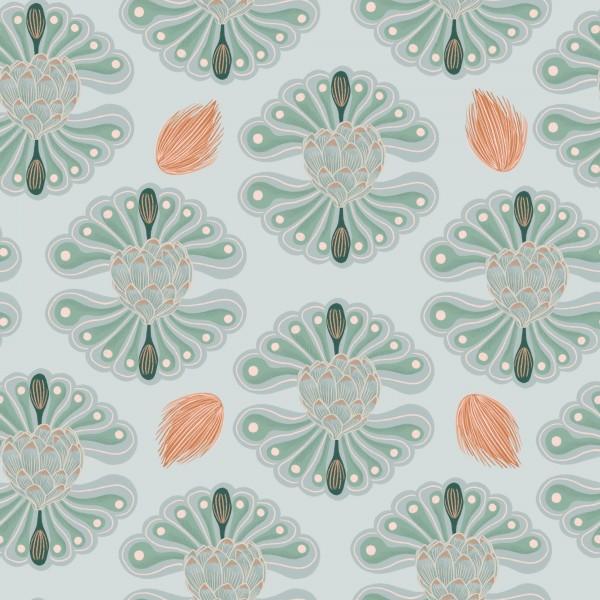 Fabrics/Floral/Hawaiian Breeze Flower, blau Bild 1