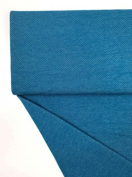 Fabrics/Basics/Solid Jacquard/Jacquardsweat, petrolblau Bild 1