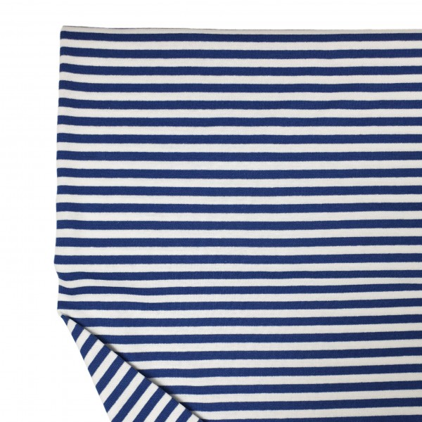 Fabrics/Basics/Striped Cuffs/Bündchen/Ribbing, glatt/smooth, blau/weiß Bild 1