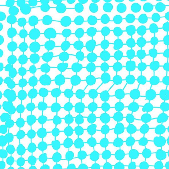 Stoffe/Grafisch/Crazy Dots, türkis Bild 1