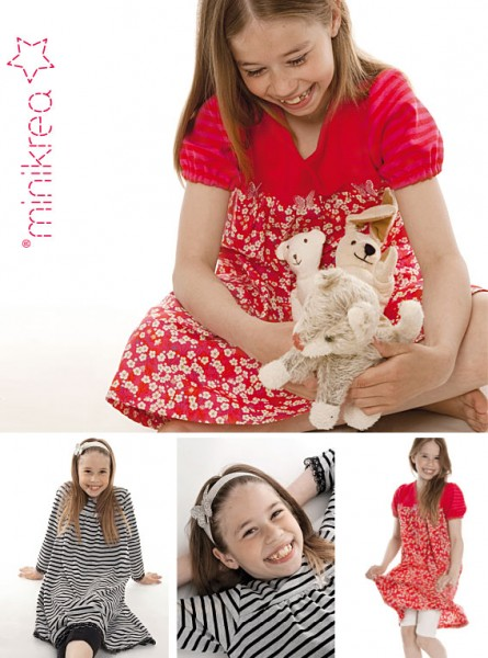 Schnittmuster/MiniKrea/SM30003- Schnittmuster/Pattern T-Shirt Kleid/Dress Bild 1