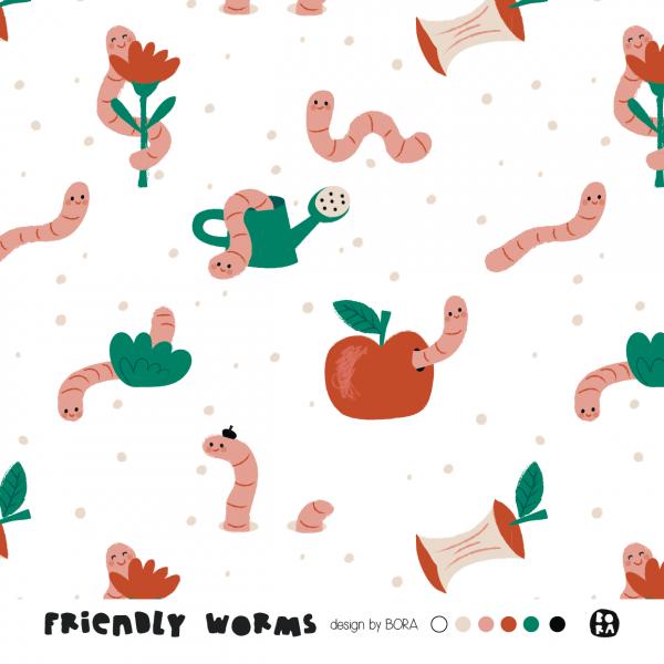 Stoffe/Designer/BORA/Friendly Worms Bild 1