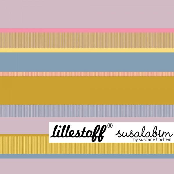 Fabrics/Designers/SUSAlabim/Rosa-senf-blau Frühlingsringel Bild 1