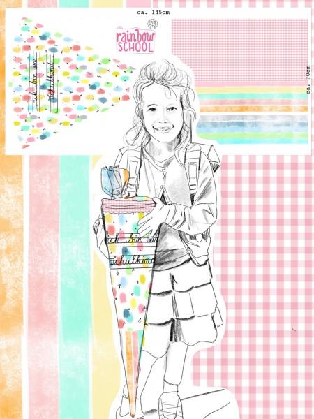 Fabrics/Designers/Miss Patty/Schultütenset Rainbow School Bild 1
