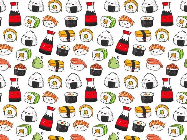 Fabrics/Figures/Kawaii Sushi Bild 1