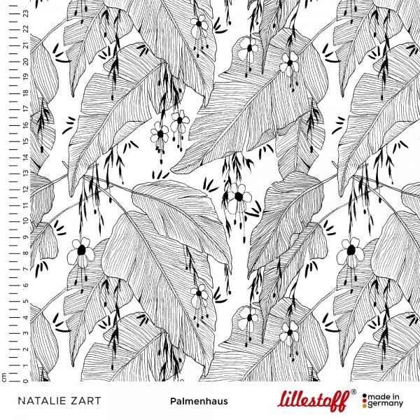 Fabrics/Designers/Natalie Zart/Palmenhaus schwarz weiß Bild 1